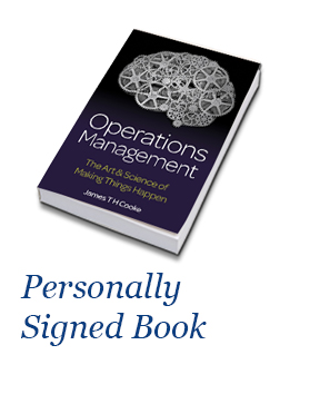 Operations Management By James TH Cooke - Signed Book